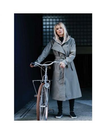 Trench coat long - AGU - Veste pluie vélo femme