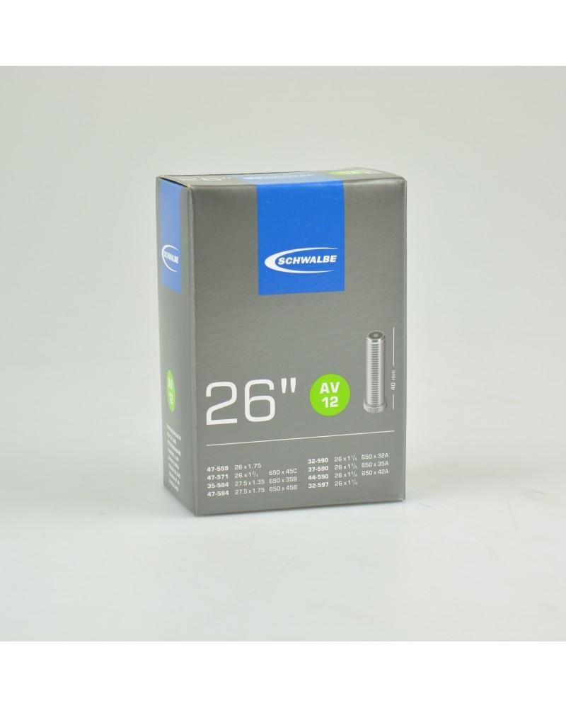 """Chambre à air Schwalbe -  Schrader/Auto 26"""" 32/47"""