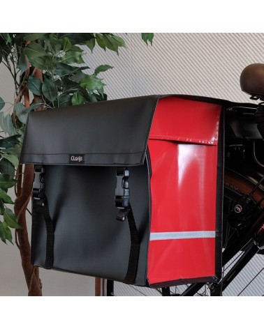 Sacoche vélo double bicolore Clarijs