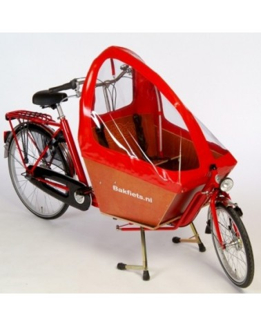 Tente pliable rouge pour biporteur court- BAKFIETS