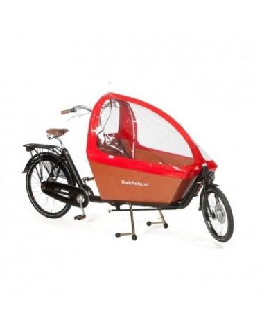 Tente pliable rouge pour biporteur long - BAKFIETS