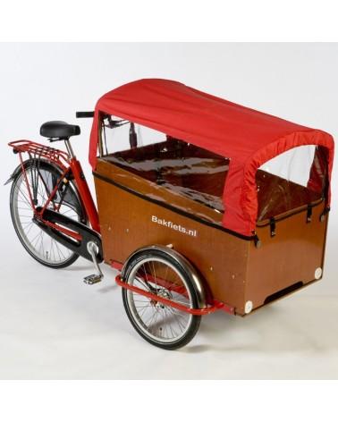 Tente pliable rouge pour triporteur - BAKFIETS