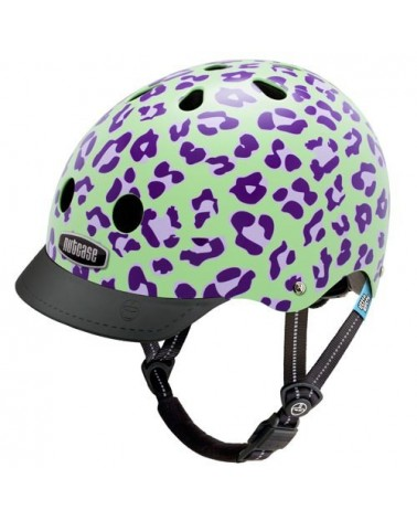 Little Nutty Grape Leopard - NUTCASE - Casque vélo enfant (48 - 52 cm)