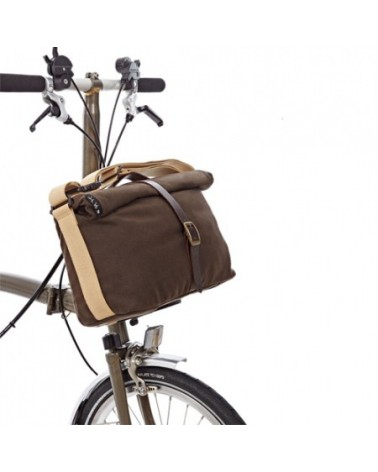 Sacoche Roll-Top Waxed Canvas pour vélo pliant Brompton - 9L
