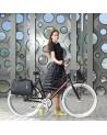 Sacoche vélo simple Business midnight noir - BASIL