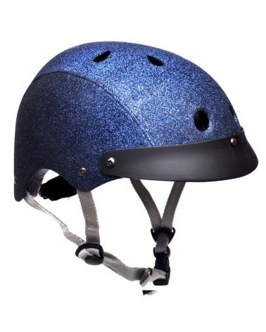 Casque vélo à paillettes Navy glitter - SAWAKO FURUNO -