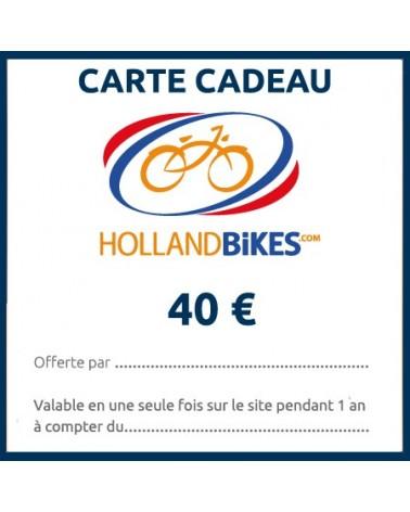 carte cadeau vélo valeur 40€