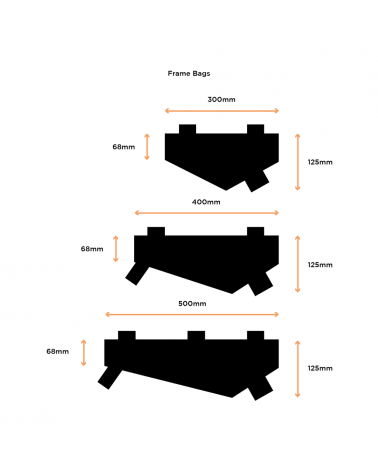 Sacoche de cadre - RESTRAP - Frame Bag M
