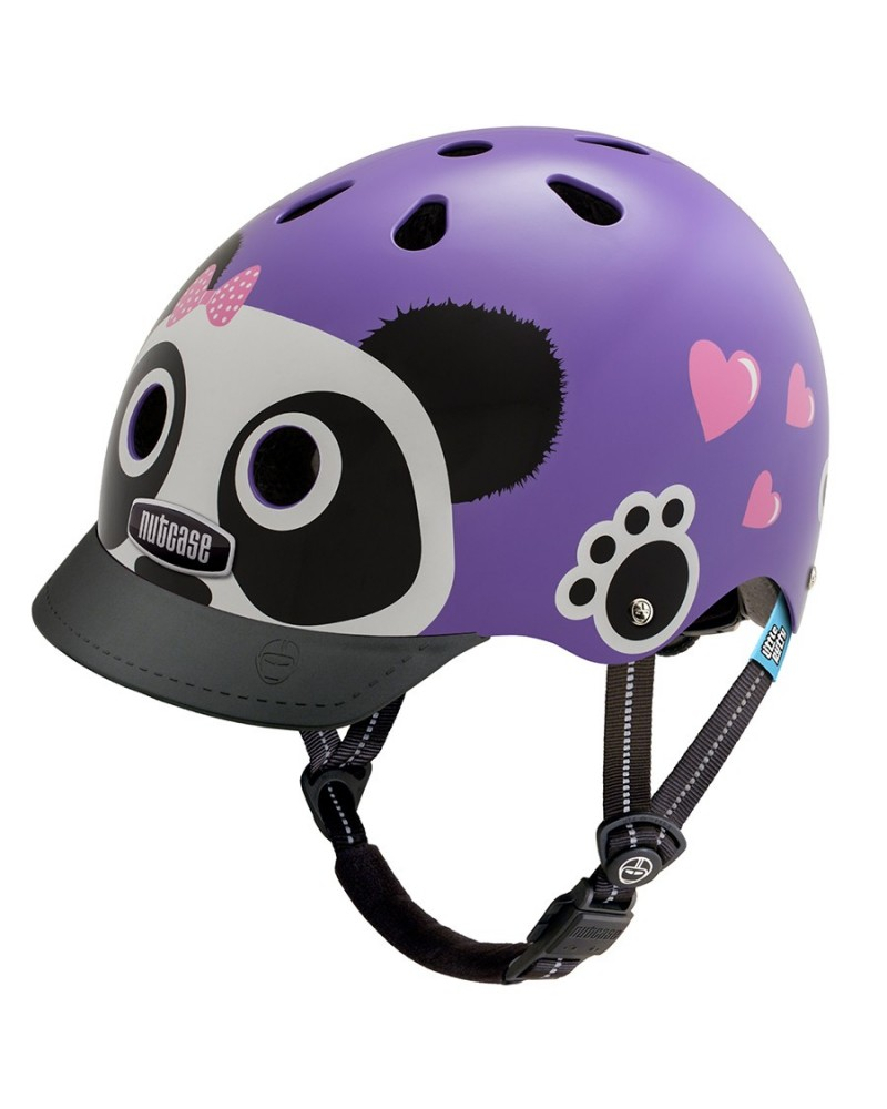 casque velo Little Nutty purple panda Nutcase