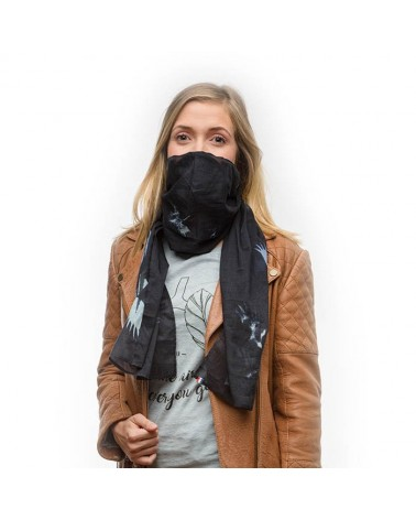 Foulard anti-pollution Wair - Vol de nuit